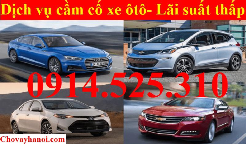 Dịch vụ cầm cố xe ô tô - Lãi suất thấp